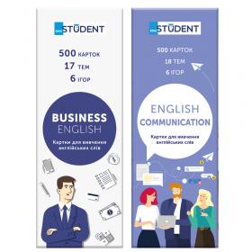 Картки для вивчення іноземних мов English Student — Business&Communication 1000 карток