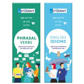 Картки для вивчення іноземних мов English Student — Idioms & Phrasal verbs 1000 карток